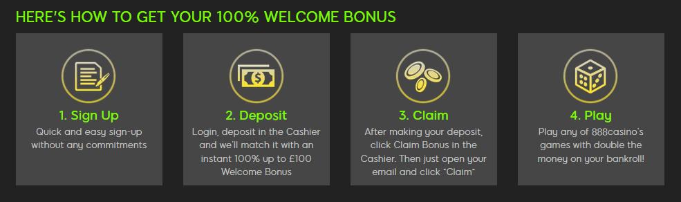 888 casino first deposit bonus how to get