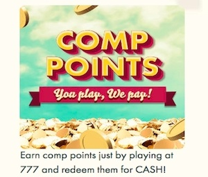 Comp Points And Rewards – 777 Casino photo