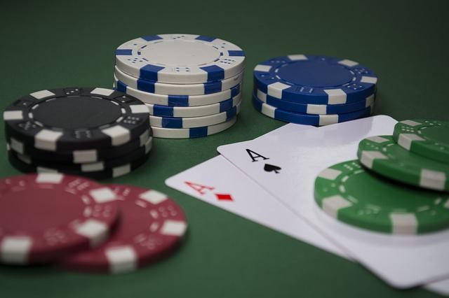 poker cards and cgips