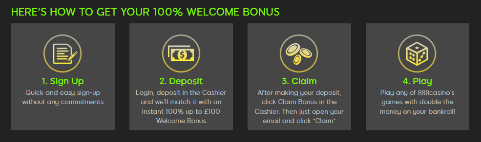 888 casino first deposit bonus how to get