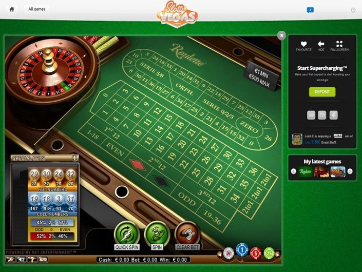 Slotty Vegas casino screenshot