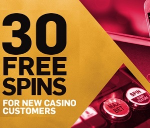 30 free spins – Betfair Casino Welcome Bonus photo