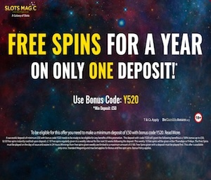 Free Spins For a Year – Slots Magic Casino photo