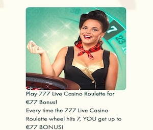 Lucky 7's Live Roulette – 777 Casino photo