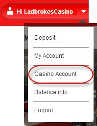 casino ladbrokes account comp points