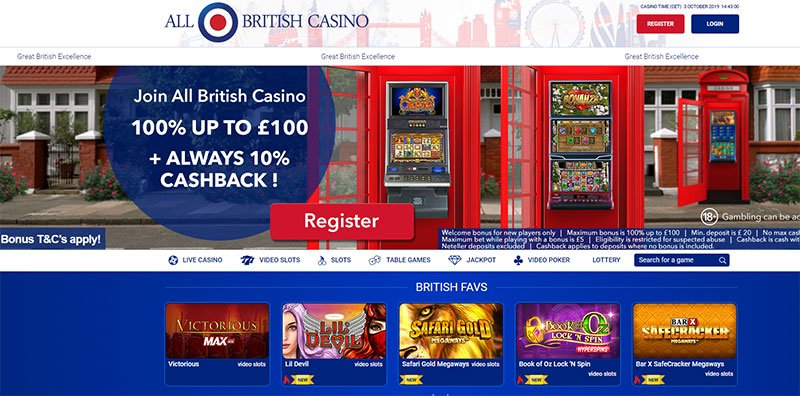 all british casino online