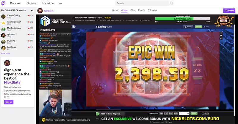 nickslots twitch streaming epic win
