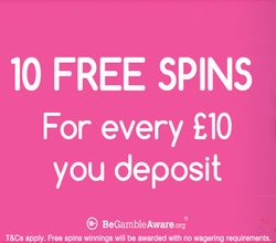 100 Free Spins at Pink Casino photo