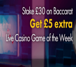 Game of the Week – Baccarat at Grosvenor Casino photo