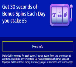 Bonus Spins Each Day you stake £5 at William Hill Vegas photo